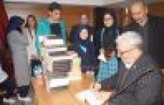 Yazar Kabahasanoğlu'ndan Oflu öğrencilerle söyleşi...