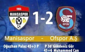 Ofspor ligi Manisaspor galibiyeti ile bitirdi