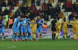 Malatya'yı yenen Trabzonspor lider