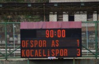 Ofspor Kocaelispor'a 3-1yenildi