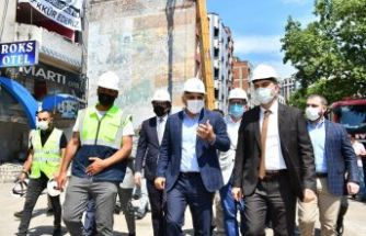 Çömlekçi'de oteller bölgesinin yıkımına başlandı