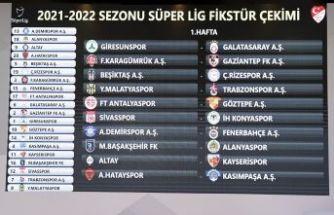 Süper Lig'de 2021-2022 sezonunun fikstür çekimi yapıldı