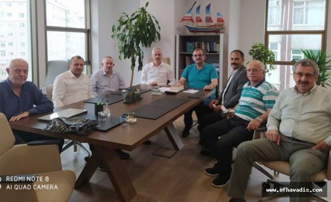 Oflu Başkanlardan Başkan Yardımcısı Çapoğlu'na ziyaret