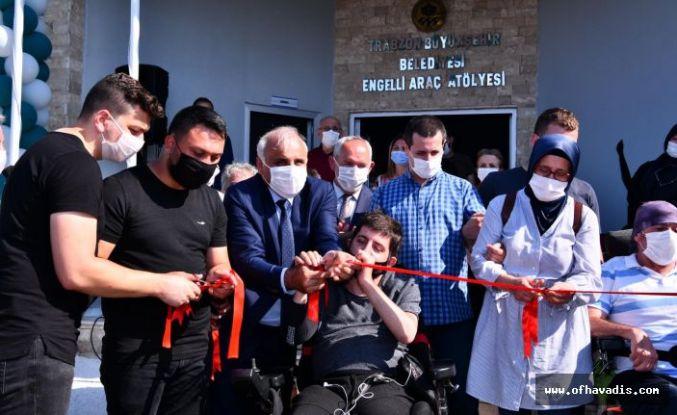 Büyükşehir engelli araç atölyesini hizmete açtı