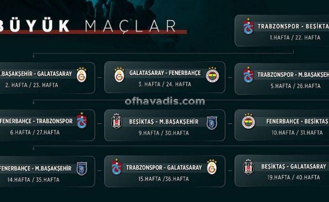 Süper Lig'de kritik maçların haftaları belli oldu