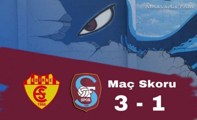 Ofspor Edirne Belediyespor'a 3-1 mağlup oldu
