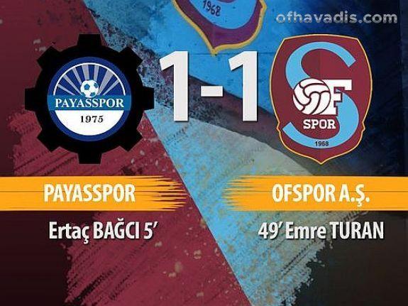 Ofspor Payas'dan 1 puanla döndü