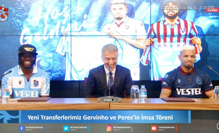 Trabzonspor'da Gervinho ve Peres sözleşme imzaladı