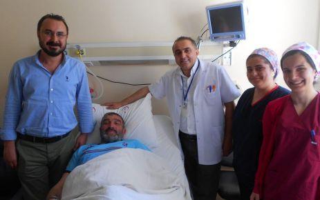 Alireisoğlu'na Of Devlet Hastanesi'nde Artroskopi  yapıldı