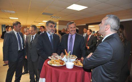 Bakan Yıldız ve Başkan Köktaş, Altunsoy'un kokteylinde