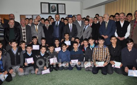 Ballıca'da Kur'an Kursu öğrencilerine belge