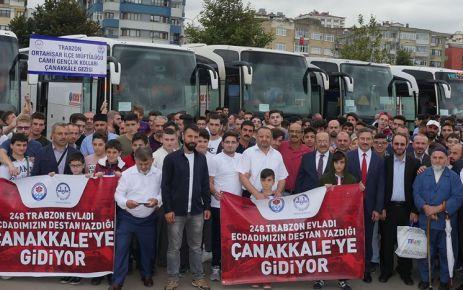 Başkan Gümrükçüoğlu 248 genci Çanakkale'ye gönderdi
