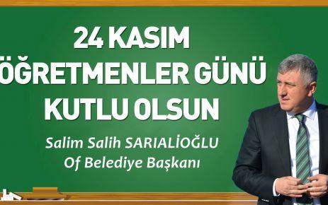 Başkan Sarıalioğlu'ndan 24 Kasım Öğretmenler Günü Mesajı
