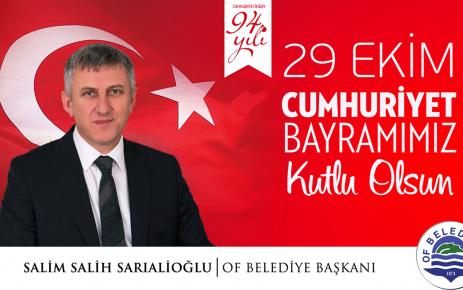 Başkan Sarıalioğlu'ndan 29 Ekim Mesajı