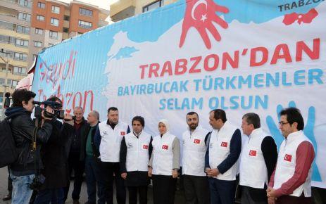 Bayırbucak Türkmenlerine 5 TIR yardım