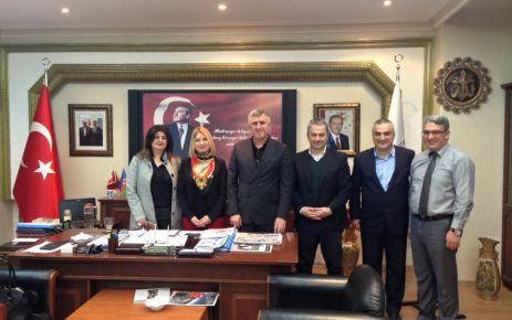 Belçika Festival ekibinden Başkan Sarıalioğlu'na ziyaret