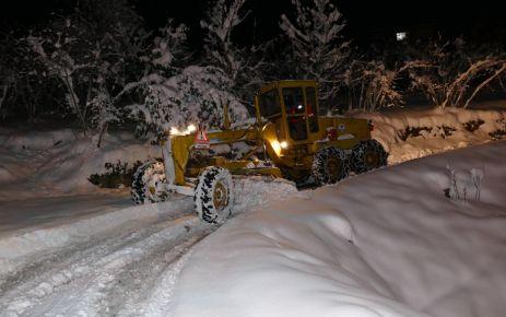Büyükşehir Belediyesinden gece yarısı kurtarma operasyonu