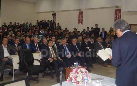 Çetin Nuhoğlu'ndan Of TEF'li öğrencilere seminer