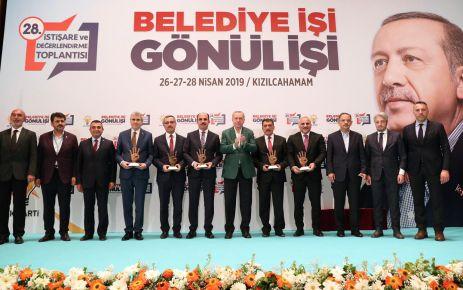 Cumhurbaşkanı Erdoğan'dan Başkan Zorluoğlu'na Ödül