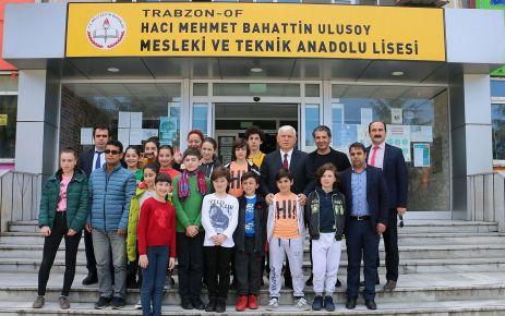 Gürcü Öğrenciler Of'ta ağırlandı
