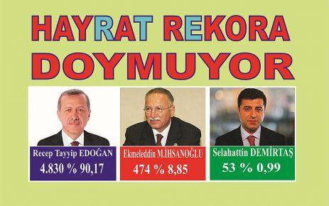 Hayrat Erdoğan için Rekora doymuyor