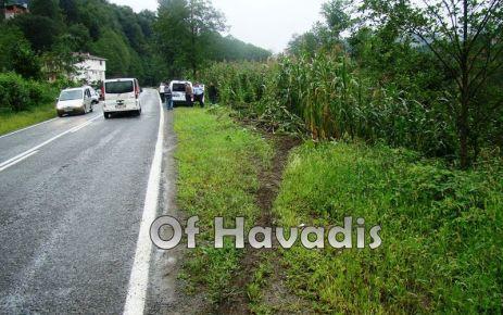 Hayrat yolunda kaza; 5 kişi yaralandı