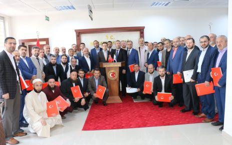 Kaymakam Fırat'tan din görevlilerine başarı belgesi