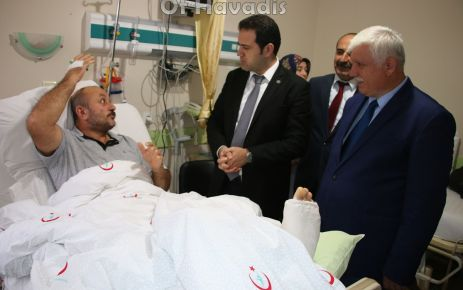Kaymakam Fırat'tan Müdür Balcan'a geçmiş olsun ziyareti