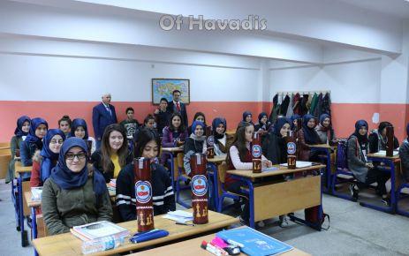 Kaymakam Fırat'tan sağlıkçılara moral ziyareti