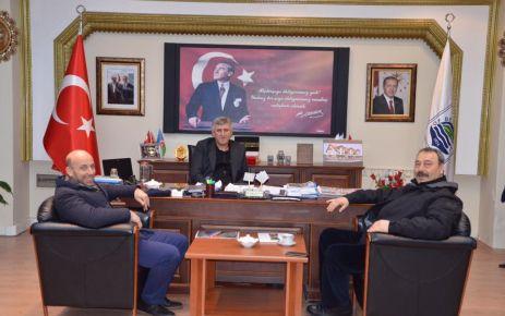 Müdür Osman Ak'tan Of Belediyesine ziyaret