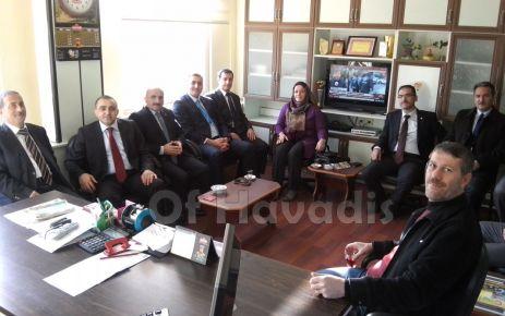 Başhekim ve Müdürlerden Çakıroğlu'na ziyaret