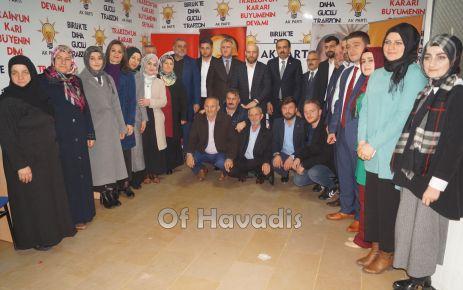 Muhammet Balta'dan Of İlçe Teşkilatına ziyaret