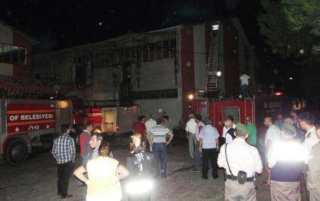 Of Çay Fabrikasında 50 ton kuru çay yandı