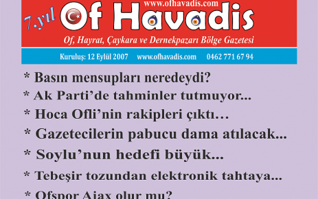 Of Havadis, Of'ta yaşananları derlemeye devam ediyor