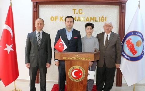 Of İmam Hatip Lisesi öğrencisi Burhan Sönmez Türkiye 3.sü