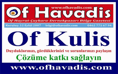 Of Kulis, Ofluların çözüm noktası olacak