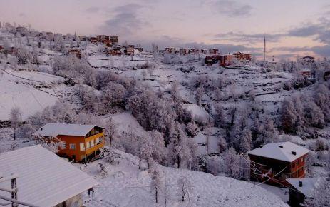Of'a mevsimin ilk karı yağdı
