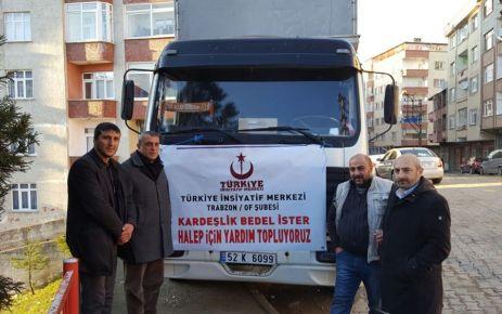Oflu Esnaf Karaahmetoğlu'ndan Halep'e 1 kamyon yardım