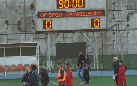 Ofspor Zara Belediyesi ile yenişemedi