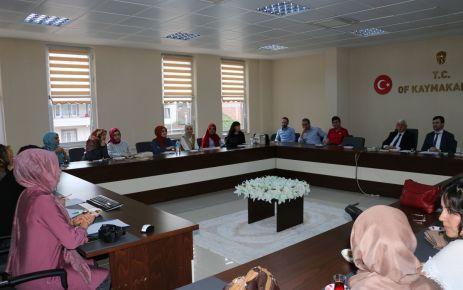 Rehber öğretmenler istişare için Of'ta toplandı