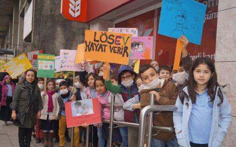 Şehit Ali Bulut İlkokulu Öğrencilerinden LÖSEV'e destek