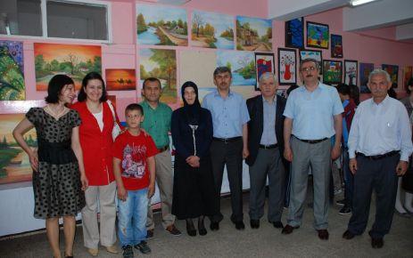Şehit Öğretmen Ali Bulu İÖO öğrencileri sergi açtı