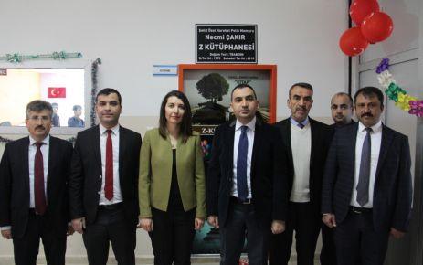 Silvan'da Şehit Necmi Çakır adına Z kütüphane