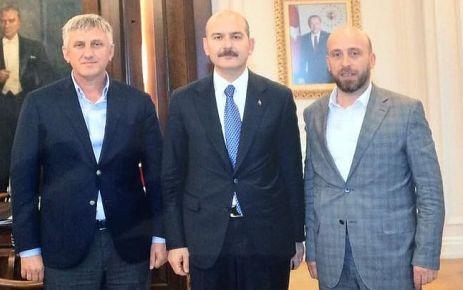 Terzioğlu ve Sarıalioğlu'ndan Bakan Soylu'ya ziyaret