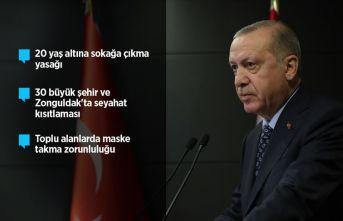 Cumhurbaşkanı Erdoğan; 20 yaş altı gençlerin sokağa çıkması yasak
