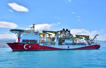 Fatih Sondaj Gemisi Trabzon'da