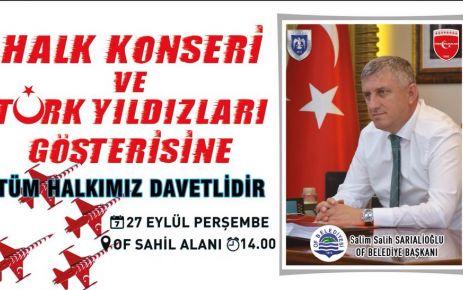 Türk Yıldızları Of semalarını şenlendirecek