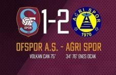Ofspor Ağrı 1970 Spor'a mağlup oldu