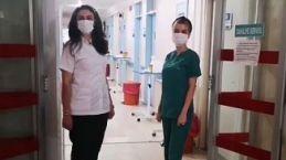 Hastane çalışanlarından videolu bayram kutlaması