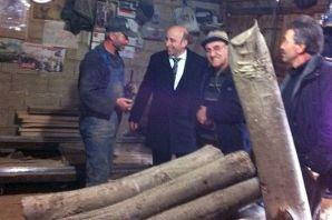 Terzioğlu delege ziyaretinde